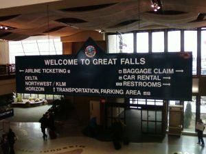 Vliegtijd Great Falls